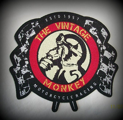 Vintage Monkey Motorcycle Racing Patch