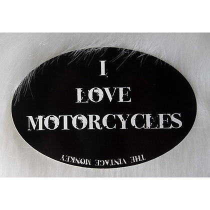 I LOVE MOTORCYCLES - Decal
