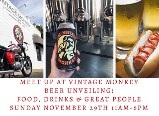 Meet Up At The Monkey! November 29th