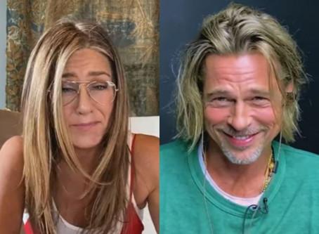 Jennifer Aniston y Brad Pitt se reencuentran virtualmente y esto pasó