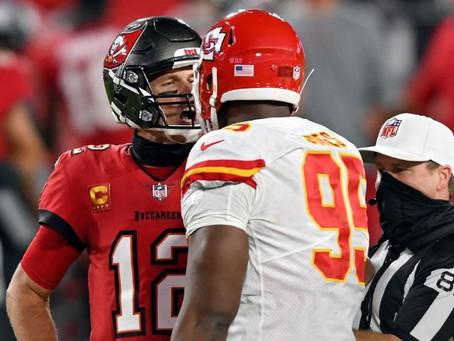 NFL: Tom Brady y su choque de casco en conato de bronca en el Buccaneers - Chiefs