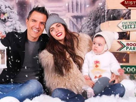 Claudia Álvarez comparte tierna sesión de fotos navideña