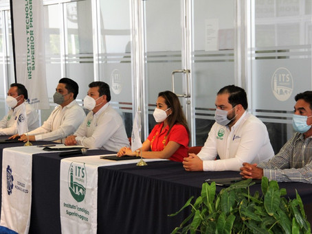 Firman acuerdo de colaboración Inaip Yucatán y Tecnológico de Progreso.