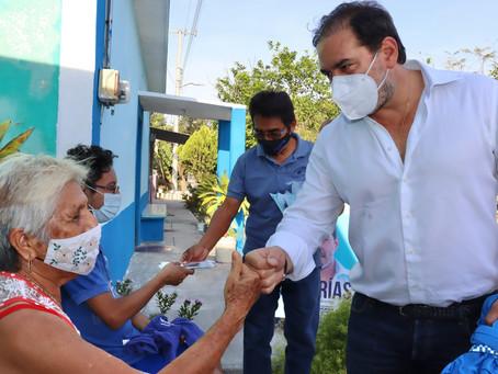El candidato del PAN, Julián Zacarías se compromete a llevar más acciones a San Ignacio