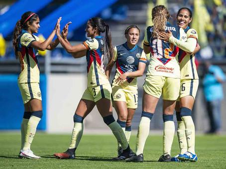 América pega primero en el Clásico Nacional Femenil