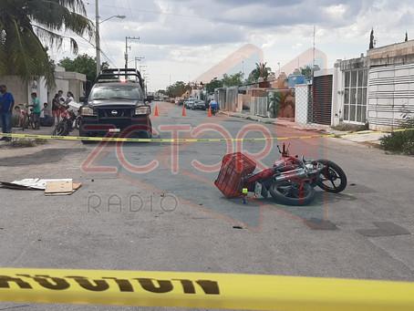 Colisiona unidad policial con motocicleta