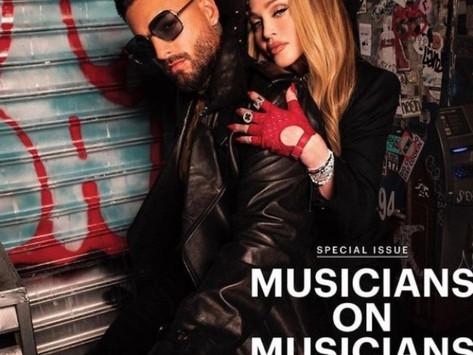 Maluma protagoniza junto a Madonna la portada de importante revista; ¿habrá colaboración?
