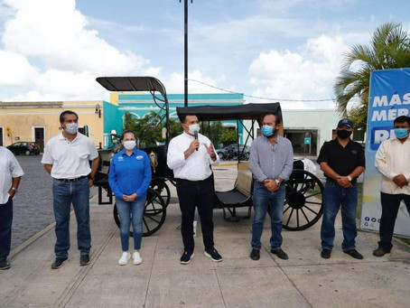 Renán Barrera presenta su propuesta de Calesa Eléctrica para Mérida