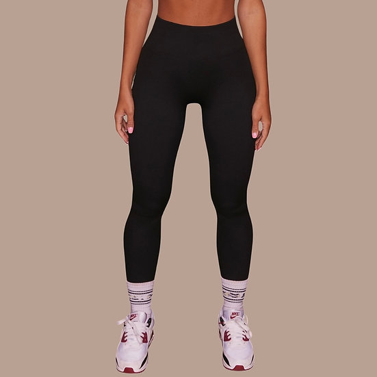 Dark Roast- Ribbed Active Leggings