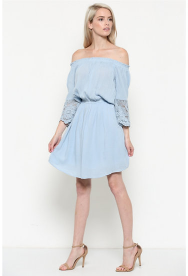 3/4 Sleeves Woven Dress