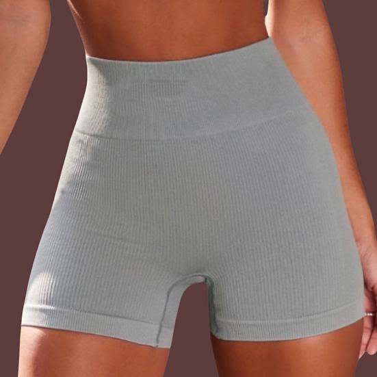 Blue Cream Puff- Ribbed Active shorts