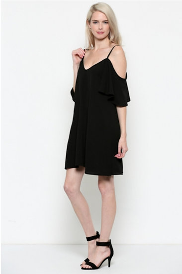 Cold Shoulder Woven Dress