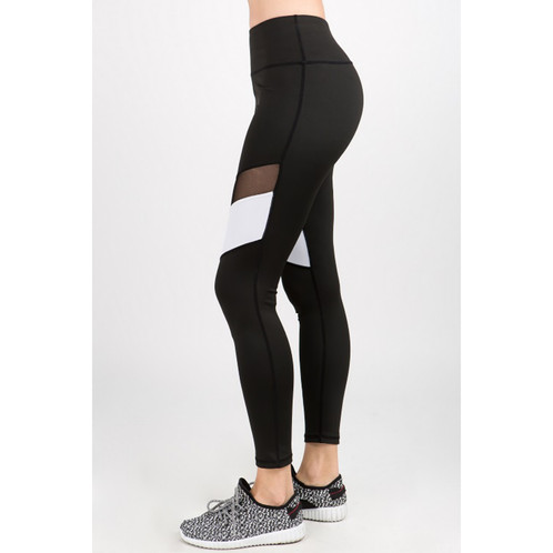 b277022732ccc Work hard, play hard at the gym... in the right leggings of course! These  leggings feature a colorblock stripe with a mesh inset to help air flow as  your ...