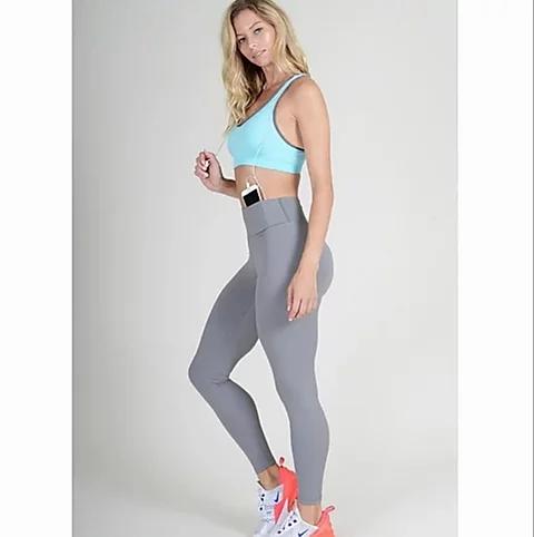 Ultra Soft Activewear Leggings W/Hidden Waistband Pocket