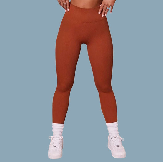 Pumpkin Cream Cold Brew- Ribbed Active Leggings