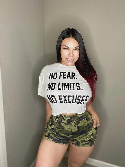 No Fear. No Limits. No Excuses Boxed Tee