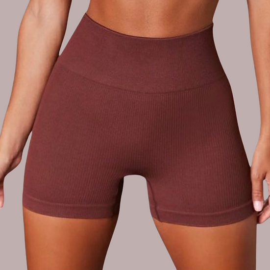 Double Shot On Ice- Ribbed Active Shorts