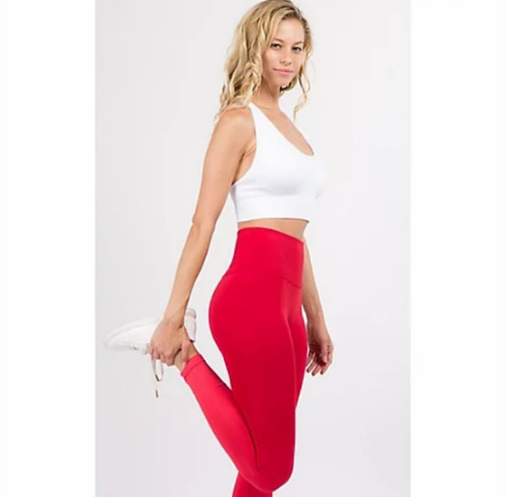 All over compression rib knit high rise leggings