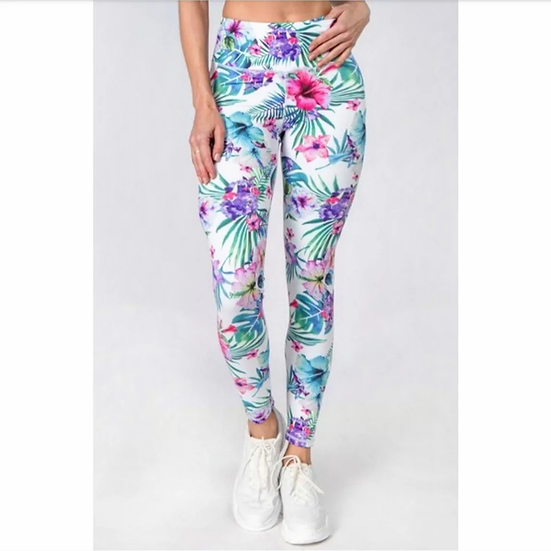 Ultra soft Active High Rise Tropical Floral Printed Leggings