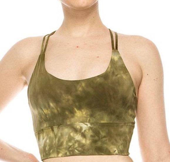 Premium Tie Dye Active Bra Top