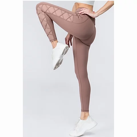 Women's Active Lace-Up Mesh Side Workout Legging