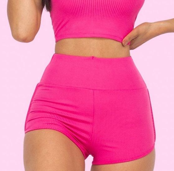 Ribbed Scrunch Shorts