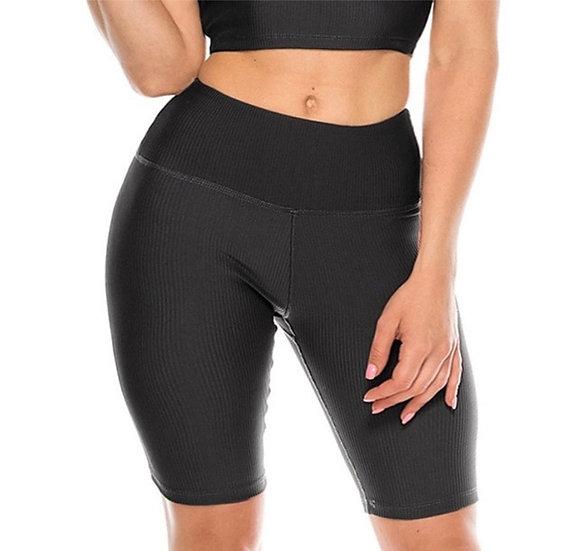Ribbed Active Biker Shorts