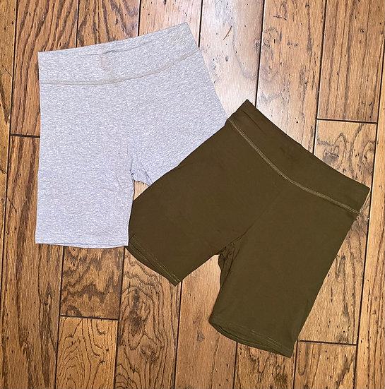 Monochrome Biker Shorts