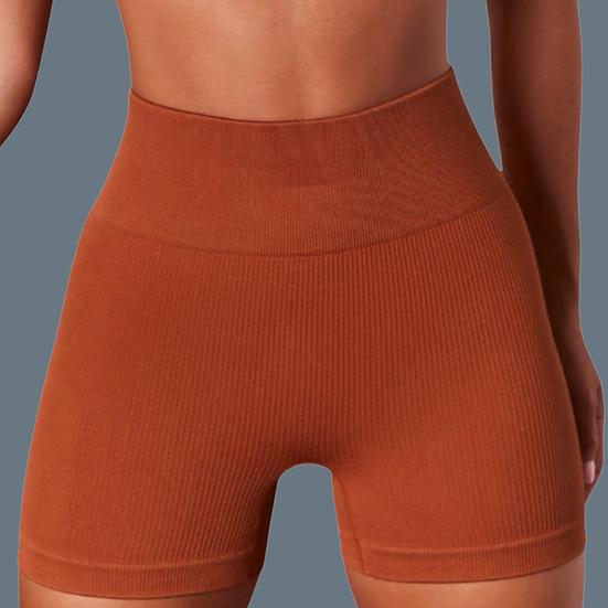 Caramel Macchiato- Ribbed Active Shorts