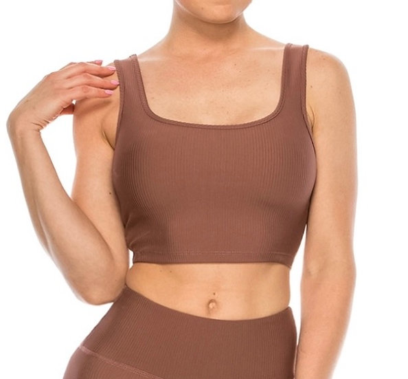 Ribbed Active Cropped Tank