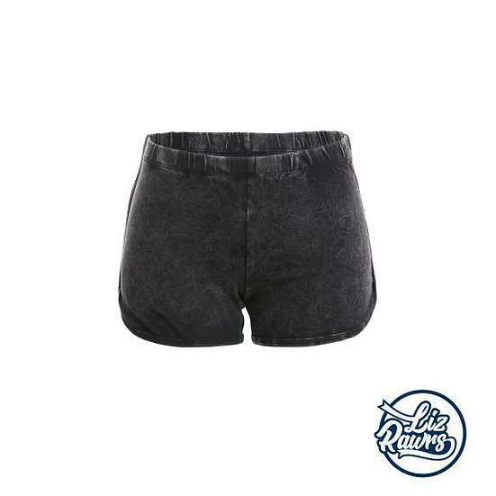 Acid Wash Dolphin Booty Shorts