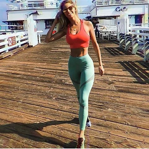 Ultra Soft Women's Mesh-Panel Active Leggings with Zipper Pocket