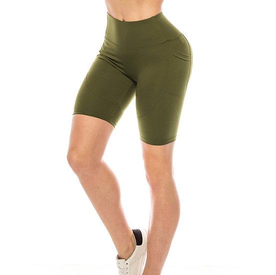 Premium Solid Biker Shorts