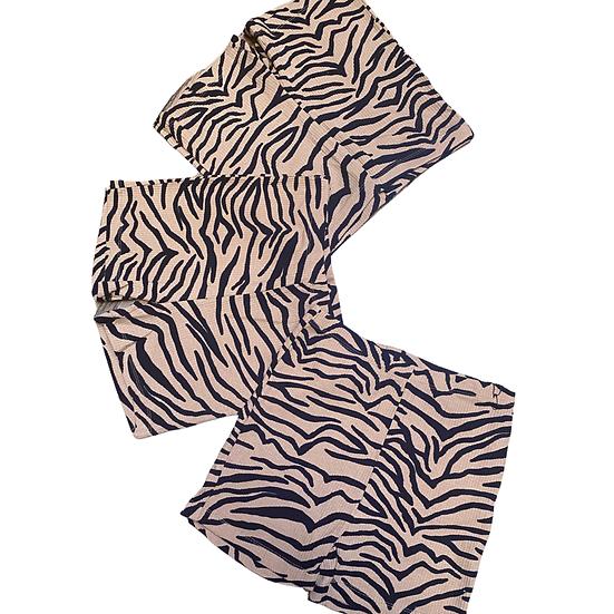 Lounge Zebra Ribbed Shorts