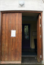 The Door with St. James Shell