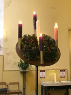 Advent Wreath Fully Lit