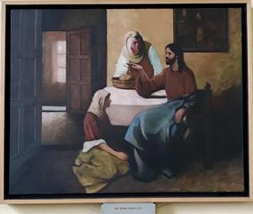 Jesus enjoying the company of Mary and Martha