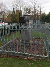 Railed Grave dedicated to Fr. Prior