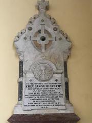 Plaque of Canon McCarthy