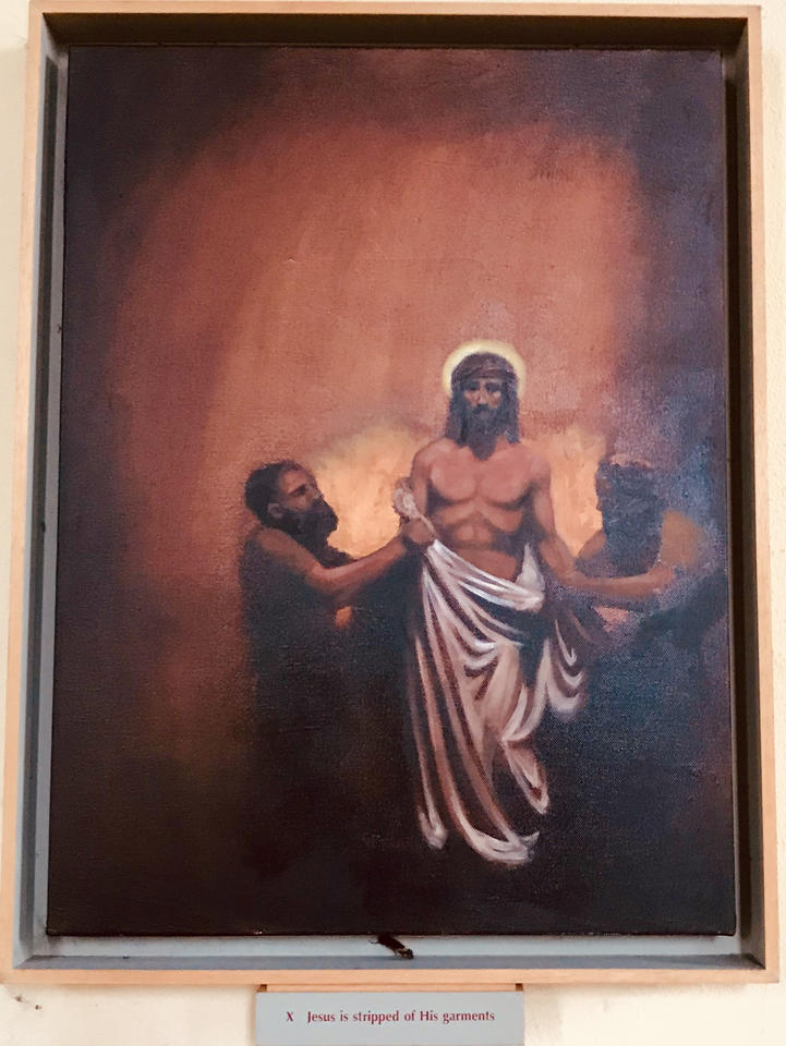 10th Station: Jesus is stripped of His clothes
