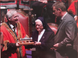 Freedom of the City being conferred on Sr. Eucharia Buckley