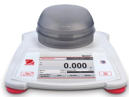 Весы OHAUS Scout® STX — портативные, долговечные и исключительно функциональные.