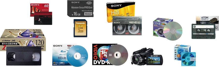 VHS Hi8 MD miniDV 8mm 8ミリ