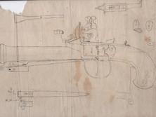 本間琢斎作の燧石銃図を手に入れました。