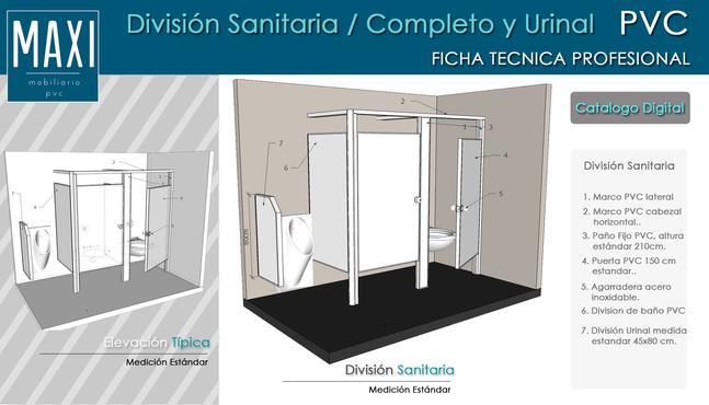 Ficha Tecnica División baño PVC MAXI