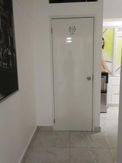 puerta pvc para baño
