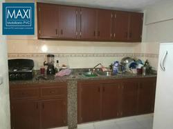 Gabinete de cocina caoba pvc