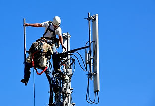 Lineman on Cell Tower