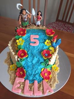 5th Birthday Moana cake