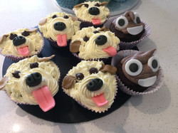 Plate of Doggie Cupcakes